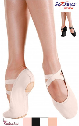 DEMI-POINTES TOILE STRETCH PRO SO DANCA SD120