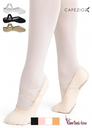 CAPEZIO HANAMI TOILE CANVAS DEMI POINTE ADULTE BI SEMELLE 2037w
