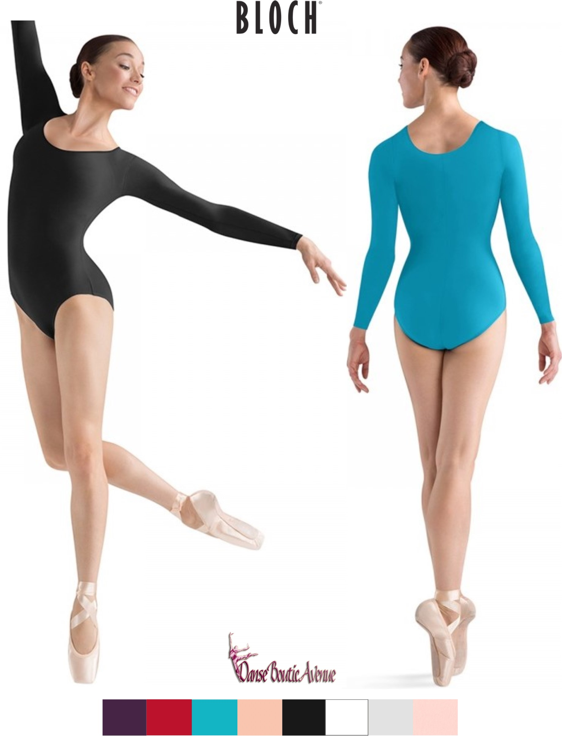 NewDance Femmes /Épaule Large Sangle Doux Modal Stretch Bodies Justaucorps de Danse sans Couture