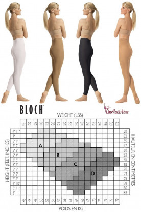 COLLANTS SANS PIEDS FOOTLESS BLOCH T0940L